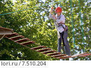 Купить «High ropes course and airy heights», фото № 7510204, снято 18 июня 2005 г. (c) Caro Photoagency / Фотобанк Лори