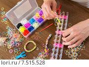 Купить «elastic loom bands for needlework», фото № 7515528, снято 22 августа 2019 г. (c) Яков Филимонов / Фотобанк Лори