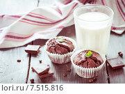 Шоколадные маффины. Стоковое фото, фотограф Ирина Буракова / Фотобанк Лори