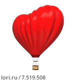 Купить «Воздушный шар в форме сердца на белом фоне», иллюстрация № 7519508 (c) Роман Иванов / Фотобанк Лори
