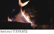 Купить «Горящие дрова», видеоролик № 7519872, снято 3 июня 2015 г. (c) Звездочка ясная / Фотобанк Лори