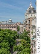 Улица Малая Бронная вид сверху (2015 год). Стоковое фото, фотограф Алексей Клим / Фотобанк Лори