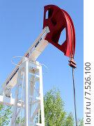 Купить «Нефтяной станок-качалка на фоне неба», эксклюзивное фото № 7526100, снято 3 июня 2015 г. (c) Вероника / Фотобанк Лори