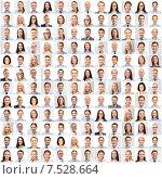 Купить «collage with many business people portraits», фото № 7528664, снято 19 августа 2019 г. (c) Syda Productions / Фотобанк Лори
