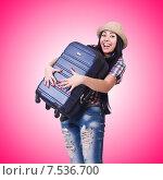 Купить «Woman preparing for summer vacation», фото № 7536700, снято 27 марта 2013 г. (c) Elnur / Фотобанк Лори