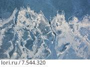 Купить «Текстура льда, фон», фото № 7544320, снято 22 августа 2014 г. (c) Алексей Кокоулин / Фотобанк Лори