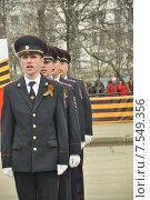 Полиция на параде (2015 год). Редакционное фото, фотограф Елена Соболева / Фотобанк Лори