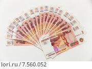 Купить «Деньги лежат веером», фото № 7560052, снято 15 июня 2015 г. (c) Кристина Викулова / Фотобанк Лори