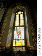 Купить «Витраж в храме», фото № 7569892, снято 30 августа 2009 г. (c) Iordache Magdalena / Фотобанк Лори