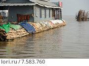 Озеро Тонлесап. Деревня на воде.Камбоджа. (2015 год). Стоковое фото, фотограф Евгений Андреев / Фотобанк Лори