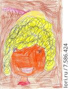 Портрет детский рисунок. Стоковая иллюстрация, иллюстратор Светлана Самаркина / Фотобанк Лори