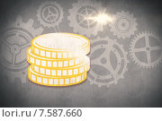Купить «Composite image of coins», иллюстрация № 7587660 (c) Wavebreak Media / Фотобанк Лори