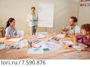 Купить «Creative businesswoman in meeting», фото № 7590876, снято 22 марта 2015 г. (c) Wavebreak Media / Фотобанк Лори