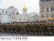 Купить «Парад 7 ноября на Красной площади. Москва», фото № 7594976, снято 7 ноября 2013 г. (c) Free Wind / Фотобанк Лори