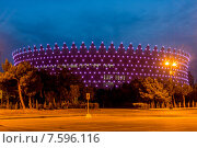 Купить «BAKU - MAY 10, 2015: Heydar Aliyev Sports Complex on May 10 in B», фото № 7596116, снято 10 мая 2015 г. (c) Elnur / Фотобанк Лори