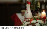 Купить «Ужин при свечах в красиво оформленном ресторане», видеоролик № 7596584, снято 18 июня 2015 г. (c) Tatiana Kravchenko / Фотобанк Лори