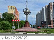 Купить «Монумент «Первый искусственный спутник Земли». Московская область, город Королёв, микрорайон Костино», эксклюзивное фото № 7606104, снято 2 июня 2015 г. (c) lana1501 / Фотобанк Лори