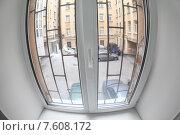 Купить «Вид из окна с решеткой на двор колодец», фото № 7608172, снято 25 июня 2015 г. (c) Кекяляйнен Андрей / Фотобанк Лори