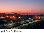 Вокзал на рассвете (2015 год). Редакционное фото, фотограф Сергей Васильев / Фотобанк Лори