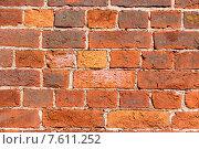 Купить «Кирпичная стена», фото № 7611252, снято 30 мая 2015 г. (c) Павел Болотовский / Фотобанк Лори