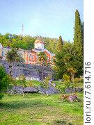 Купить «Абхазия. Новоафонский Симоно-Кананитский монастырь», фото № 7614716, снято 26 апреля 2015 г. (c) Parmenov Pavel / Фотобанк Лори