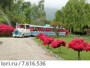 Детский паровозик в зоопарке Стреза, Италия (2015 год). Редакционное фото, фотограф Алексей Мальцев / Фотобанк Лори