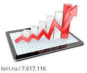 Купить «График и диаграмма на экране планшета. Бизнес-концепция», иллюстрация № 7617116 (c) Маринченко Александр / Фотобанк Лори