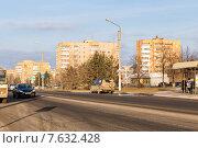 Купить «Улица Мурадьяна. Нижнекамск», эксклюзивное фото № 7632428, снято 25 ноября 2014 г. (c) Сергей Лаврентьев / Фотобанк Лори