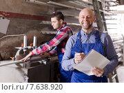 Купить «manager at PVC windows factory», фото № 7638920, снято 12 ноября 2019 г. (c) Яков Филимонов / Фотобанк Лори
