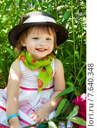 Маленькая девочка в шляпе. Стоковое фото, фотограф ElenaGumerova / Фотобанк Лори