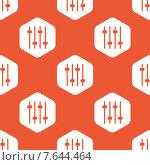 Купить «Orange hexagon faders pattern», иллюстрация № 7644464 (c) Иван Рябоконь / Фотобанк Лори