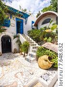 Городской пейзаж, Sidi Bou Said, Тунис. Стоковое фото, фотограф Ирина Буракова / Фотобанк Лори