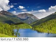 Купить «Mountain lake», фото № 7650980, снято 27 июля 2013 г. (c) Ingram Publishing / Фотобанк Лори