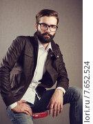 Portrait of handsome man with beard. Стоковое фото, фотограф Oleg Gekman / Ingram Publishing / Фотобанк Лори