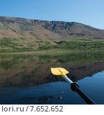 Купить «Kayaking in Trout River Pond, Gros Morne National Park, Newfoundland and Labrador, Canada», фото № 7652652, снято 26 августа 2013 г. (c) Ingram Publishing / Фотобанк Лори