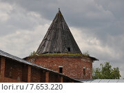 Кремль в городе Зарайске, стена, башня (2013 год). Редакционное фото, фотограф Светлана Хромова / Фотобанк Лори