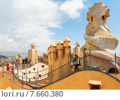 Roof of Casa Mila (2015 год). Редакционное фото, фотограф Яков Филимонов / Фотобанк Лори