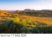landscape of bardenas reales natural park. Стоковое фото, фотограф Яков Филимонов / Фотобанк Лори