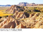 landscape of bardenas reales natural park in Navarra. Стоковое фото, фотограф Яков Филимонов / Фотобанк Лори
