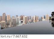 Купить «view from infinity edge pool to bangkok city», фото № 7667632, снято 6 февраля 2015 г. (c) Syda Productions / Фотобанк Лори