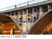 Макаровский мост в Екатеринбурге (2012 год). Стоковое фото, фотограф Евгения Теленная / Фотобанк Лори
