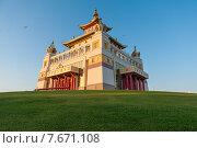 «Золотая обитель Будды Шакьямуни», Элиста, Калмыкия (2015 год). Стоковое фото, фотограф Nina Zotina / Фотобанк Лори