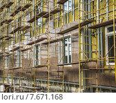 Отделка фасада с гранитными плитками. Стоковое фото, фотограф Vladimir Shashkin / Фотобанк Лори