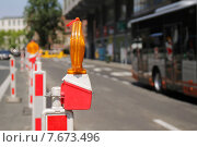 Купить «Запрещающий дорожный знак», фото № 7673496, снято 4 июля 2015 г. (c) Эдуард Цветков / Фотобанк Лори