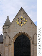 Брюссель,часы церкви св.Николая (2015 год). Стоковое фото, фотограф Эдуард Цветков / Фотобанк Лори