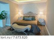 Купить «Hotel room with modern interior», фото № 7673820, снято 20 июня 2015 г. (c) Elnur / Фотобанк Лори