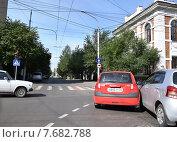 ДТП на улице Красноярска (2014 год). Редакционное фото, фотограф Николай Новиков / Фотобанк Лори