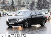 Mercedes-Benz W222 S-class (2015 год). Редакционное фото, фотограф Art Konovalov / Фотобанк Лори