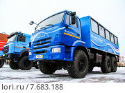 Купить «KamAZ 43114», фото № 7683188, снято 8 октября 2014 г. (c) Art Konovalov / Фотобанк Лори