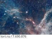 Туманность в созвездии Золотая Рыба. Также известна под названием «Тарантул». Принадлежит галактике-спутнику Млечного Пути — Большому Магеллановому Облаку. Стоковое фото, фотограф Юрий Дмитриенко / Фотобанк Лори